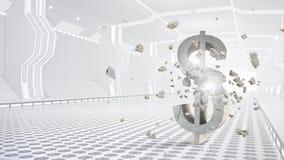 Zukünftiges Design der Depotverwahrung Gemischte Medien Stockfotografie