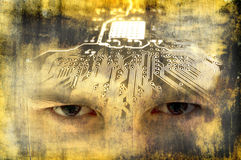 Zukünftiges Gehirn Lizenzfreies Stockfoto