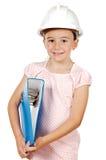Zukünftiges Ingenieurmädchen Stockbild