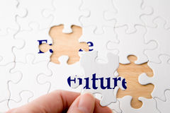 Zukünftiges Puzzlespiel Lizenzfreie Stockfotos