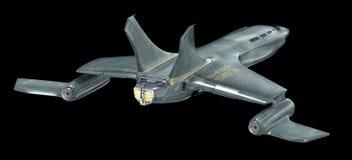 Zukünftiges Raumschiff Bild 3d lizenzfreie abbildung