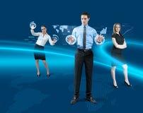 Zukünftiges Teamwork-Konzept Lizenzfreie Stockbilder