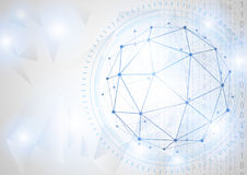 Zukünftiges Technologiekonzept des globalen Geschäfts Lizenzfreies Stockbild
