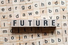 Zukünftiges Wortkonzept stockbild