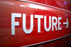Zukünftiges Zeichen. Lizenzfreie Stockbilder