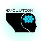 Zukünftige menschliche Ikone Stockbild