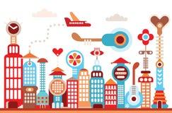 Zukünftige Stadt Stockfotos