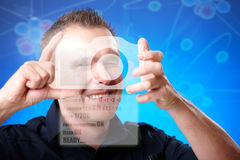 Zukünftiger Fotograf Lizenzfreie Stockfotos