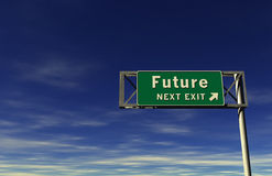 Zukunft - Autobahn-Ausgangs-Zeichen Lizenzfreie Stockbilder