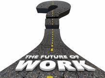 Zukunft der Arbeits-Straßen-Job-Beschäftigung, die sich vorwärts bewegt lizenzfreie abbildung