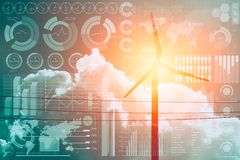 Zukunft der Energie und der Technologie stockbild