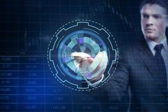 Zukunft, Kommunikation und Devisenkonzept lizenzfreies stockfoto
