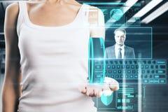 Zukunft-, Kommunikations- und Arbeitskonzept Lizenzfreie Stockfotografie