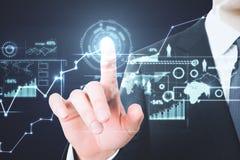 Zukunft und Analytikkonzept lizenzfreie stockbilder