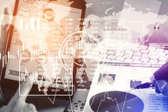Zukunft und Finanzkonzept Stockfoto