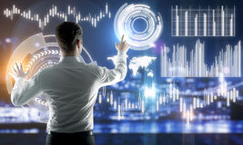 Zukunft und Finanzkonzept lizenzfreie stockfotografie