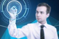 Zukunft- und Hologrammkonzept Lizenzfreies Stockfoto