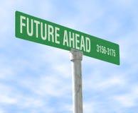 Zukunft voran stockbild