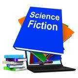 Zukunftsroman-Buch-Stapel online zeigt SciFi-Bücher Lizenzfreie Stockfotos