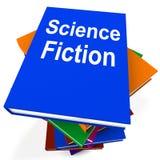Zukunftsroman-Buch-Stapel zeigt SciFi-Bücher Lizenzfreies Stockbild