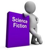 Zukunftsroman-Buch-und Charakter-Shows SciFi-Bücher Stockfoto