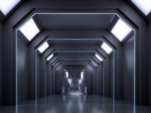 Zukunftsroman-Innenraumszene