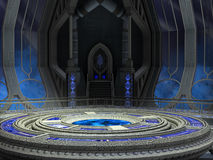 Zukunftsromane FantasyTechnology-Raum Stockbilder