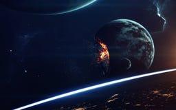 Zukunftsromankunst Schönheit des Weltraums Elemente dieses Bildes geliefert von der NASA stockfotografie