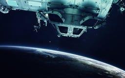 Zukunftsromankunst Schönheit des Weltraums Elemente dieses Bildes geliefert von der NASA lizenzfreies stockbild