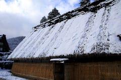 Zukuri de Gassho dans la neige photo libre de droits