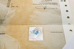 Zulassung- für Fahrzeugezertifikat certificat d ` Immatrikulation k lizenzfreie stockfotos