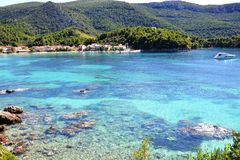 Zuljana bay on the peninsula of Peljesac Stock Photos