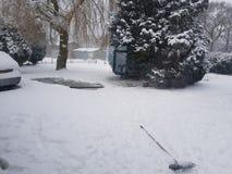 Zulk een sneeuwdag Stock Foto
