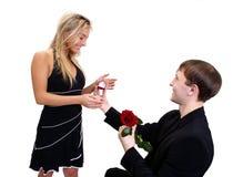 Zult u me huwen? Royalty-vrije Stock Fotografie