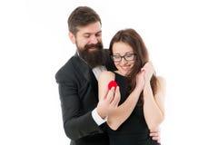 Zult u me huwen Zij zei ja Idee?n voor uniek aanzoek Het paar viert verjaardag Hoop houdt zij van ring royalty-vrije stock fotografie