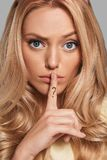 Zult u mijn geheim houden? royalty-vrije stock foto's