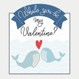 Zult u mijn Valentine-tekst zijn Royalty-vrije Stock Afbeelding