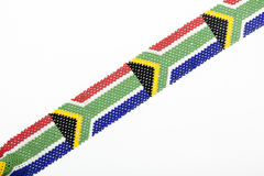 Zulu Beads Threaded in the Colors of the South African Flag Stock Image