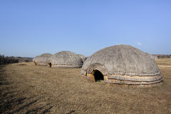 Zulu beehive huts. Stock Images