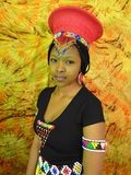 Zulu Bride. In head gear Stock Images