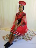 Zulu bride. Makoti posing on the chair Royalty Free Stock Images