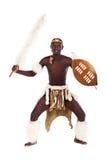 Zulu dancer. Traditional south african zulu dancer studio portrait stock images