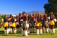 Zulu dancers Royalty Free Stock Photography