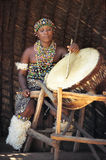 Zulu drum player Royalty Free Stock Photography