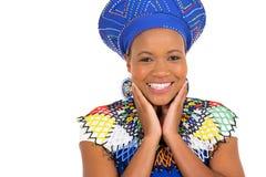 Zulu- Frauennahaufnahme Lizenzfreie Stockfotografie