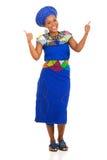 Zulu- kvinnatummar upp Arkivbilder