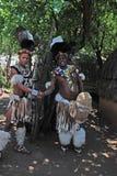 Zulu- Männer, Südafrika Stockbilder
