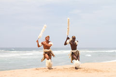 Zulu man dancing Stock Photos