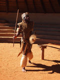 Zulu man depicting warrior. April 18, 2014. KwaZulu-Natal, South Stock Photo