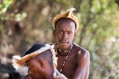 Zulu- Stammesangehöriger stockbilder